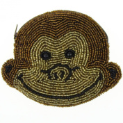 E.a@market Chinese Handmade Beaded Coin Purse Card Pouch Cute Monkey