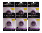 Set of 6 Reach Total Care Fresh Mint Listerine Floss Removes Plaque 30 Yards