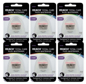 Set of 6 Reach Total Care Plus Teeth Whitening Mint Floss Baking Soda 30 Yards
