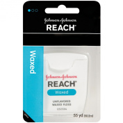 Reach Waxed Dental Floss Unflavored, 55 Yard