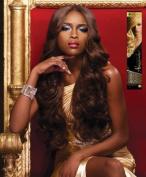 Alexander - Genuine 100% Remi Human Hair Yaki Weave (46cm , 2 - DARK BROWN) by HAIRZONE