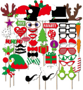 iBuy365 50pcs Colourful Props On A Stick Moustache Photo Booth Party Fun Wedding Christmas Birthday Prom Favour
