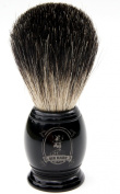 100% Genuine Badger Hair Shaving Brush by Sir Hare with water repelling Beautiful Black Resin Handle