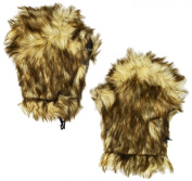 BearHands Little Girls' Youth Faux Fur Mittens