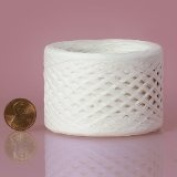 White Paper Raffia Ribbon 0.6cm x 100 yards
