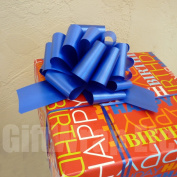 Royal Blue Pull Bows - 20cm Wide, Set of 6, Graduation Party Ribbon Decorations
