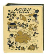 Antigua & Barbuda Map Embossed Photo Album 100 Photos / 4x6