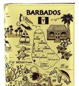 Barbados Map Embossed Photo Album 100 Photos / 4x6