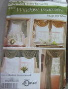 Simplicity 4128 Window Treatments Swags & Jabots Sewing Patterns