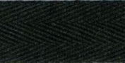 100% Cotton Twill Tape 2.5cm X55yd-Black