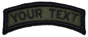 Custom Text Tab Patch W/hook and loop - Military/morale