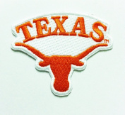 Texas Longhorns Iron on Ncaa Sport Patch Embroidered Iron on Hat Jacket Hoodie Backpack Ideal for Gift/ 7.5cm(w) X 6cm