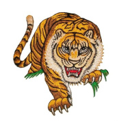 Tiger Embroidered Iron on Patch ,Sew On Car Logo Clothes Clothing Motorcycle