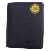 GUSTT® Top Rated RFID Blocking Secure Genuine Leather Passcase Bifold/Trifold Wallets