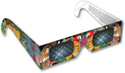 Rainbow Symphony Rainbow 3D Fireworks Glasses - Animal Design, Package of 50