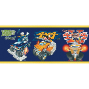 Imperial Disney Home DF059201B Mickey Monster Truck Border, Navy Blue, 26cm Wide