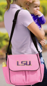 LSU Tigers Nappy Bag Official NCAA College Logo Deluxe LSU - Pink Baby Shower B
