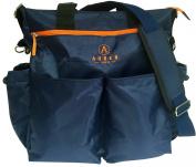 Stylish Nappy Bag - 11 Pockets - FREE Changing Mat & Bottle Bag