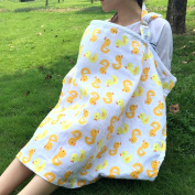 LiveBox Supper Soft Cotton Rubber Ducky Print Breast Feeding Nursing Cover