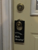 Shhh... Baby Sleeping Door Hanger to Prevent People From Knocking on the Door, and Ringing the Door Bell.