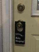 Shhh... Baby Sleeping Door Hanger to Prevent People From Knocking on the Door, and Ringing the Door Bell.