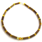 Hazelaid (TM) Child Hazelwood-Amber Necklace - 28cm Milk & Butter