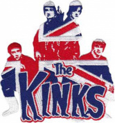 Application The Kinks Flag Silhouette Patch