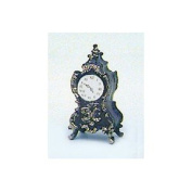 Dollhouse Ornate Clock, Brown with gold
