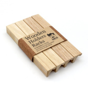 Wooden Rack Holder Scrabble Tiles / Mah Jong Set of 4
