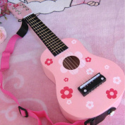 Childrens Wooden Acoustic Guitar kids music Instruments gift 6 string mini guitar Playable Musical Instrument Toy with Straps