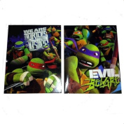 Teenage Mutant Ninja Turtles (2) Folders Set, We Are the Turtles of Justice & Evil Beware