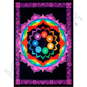 Kheops International - Cotton Single Tapestry Rainbow Chakra