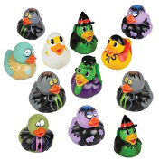 Halloween and Zombie Rubber Duckies (12 Pack) Combo Party Favours