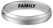 "Sterling Silver Plain ""Family"" Engraved Inside Ring, Size 7"