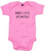 Optometrist Baby Body Suit Daddys little Newborn Babygrow Pink with Black Print 0-3 months