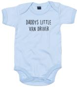 Van Driver Baby Body Suit Daddys little Newborn Babygrow Blue with Black Print 3-6 months