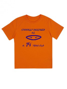 """Cunningly Desguised as a 14 Year Old"" - Unisex Ninja Eyes Birthday T Shirt Gift"