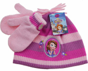 Girls Disney Sofia the first Princess Hat and Mittens Winter Set - 2-4Years