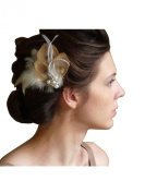 Jelinda®Women Peacock Feather Bridal Wedding Hair Clip Fascinator