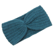 JTC Women's Handmade Knitted Winter Headband Teal