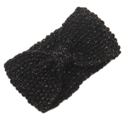 JTC Women's Niblet Knitted Winter Headband Black