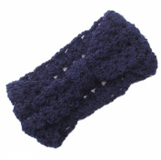 JTC Women's Hollow Out Knitted Winter Headband Navy