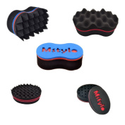 5Pc New Magic Barber Hair Curling Sponge Brush for Coils Dreads Twists