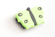 V7 Butterfly Clothes Brush 9 x 6 cm, Green