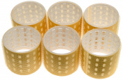 Fripac-Medis Thermo Magic Rollers 64 mm, Yellow - Pack of 6