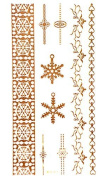 3D GOLDEN Tattoo, Flash Tattoos, Hearts tattoos, Ring Temporary Tattoos in 3d, WFD-011, LK Trend & Style
