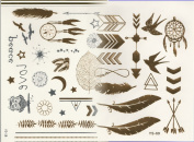 Holloween Tattoo Selection with Dreamcatcher, Feathers and Owl