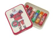 Lip Smacker® Coca-ColaTM Gift Tin Box with 6 Lip Balms in Original Flavours Coca-Cola ClassicTM Coca-Cola VanillaTM Fanta OrangeTM Fanta PineappleTM Fanta StrawberryTM and SpriteTM