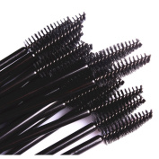 LIFECART 50pcs Disposable Eyelash Brushes Wands Mascara Applicator Makeup Brush Kits - Black