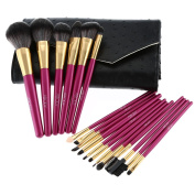 Abody 18Pcs Makeup Brushes Kit Professional Cosmetic Makeup Set Brush Set Wood Handle Superfine Fibre Brush+ Pouch Bag Case